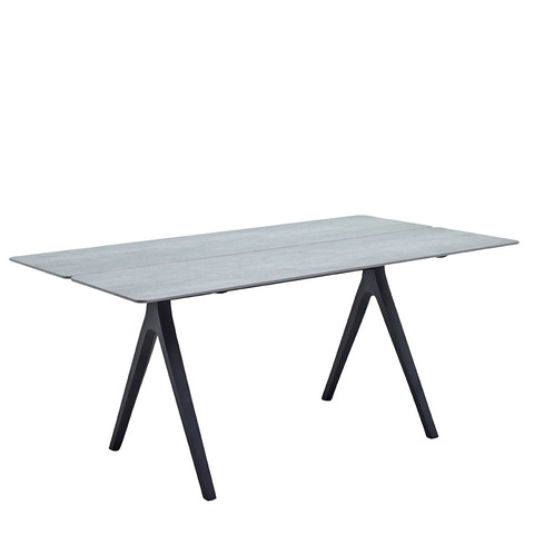Split 92cm x 170cm Dining Table With Ceramic Top And Meteor Frame
