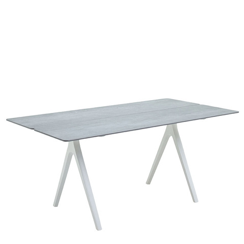 Split 92cm x 170cm Dining Table With Ceramic Top And White Frame