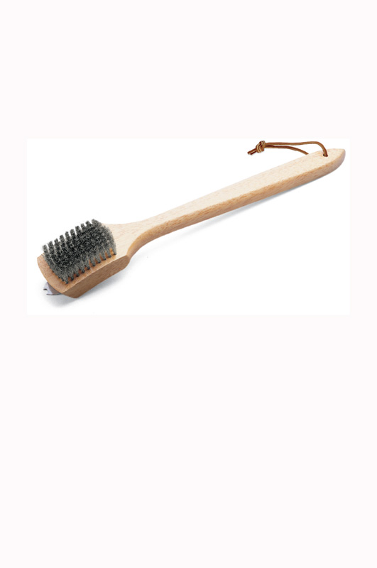 Grill Brush - Bamboo Handle, 46 Cm, Stainless Steel Bristles