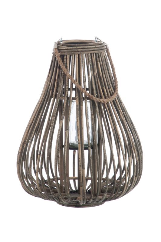 Rattan Lantern Pear-Shape Large