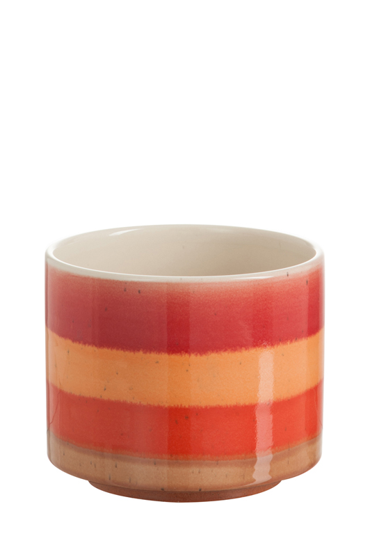 Red/Orange Pot Stripes D19cm