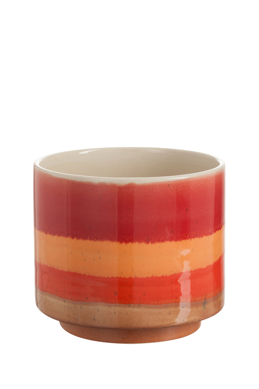 Red/Orange Pot Stripes D26cm