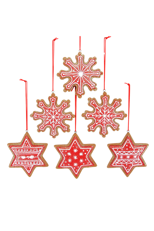 Iced Gingerbread Snowflake/Star