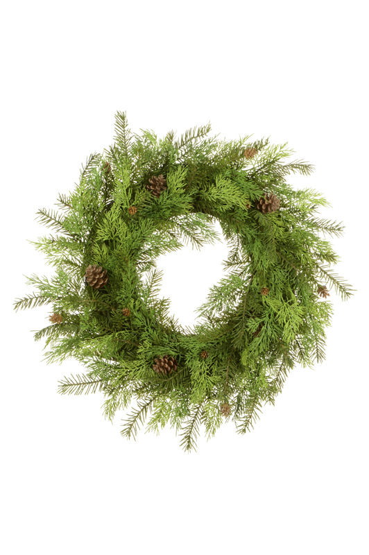 Artificial Deluxe Cedar/Pine Wreath