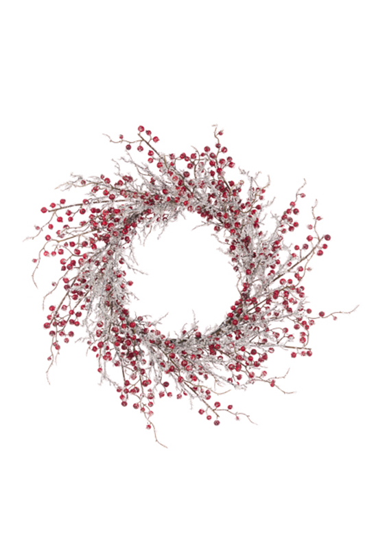 Artificial Iced Berry Wreath