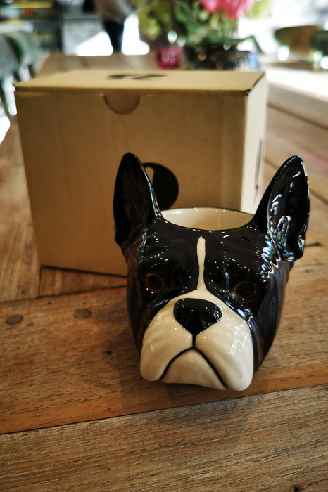 Egg Cup French Bulldog Face