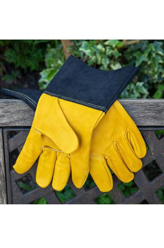 Luxury Leather Gauntlet Gloves - Men's Large