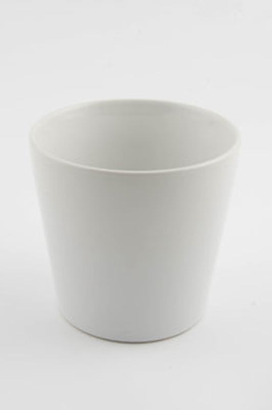 Conical Pot White D7cm